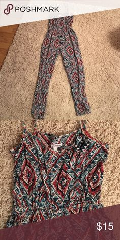 Tribal romper Full length leg tribal romper Charlotte Russe Other