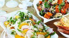 Coles recipes - roasted pumpkin, artichoke and rice salad