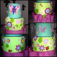 Butterfly's & Flower Cake!