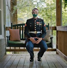 Marine Cpl. Chris McNair (Ret.) Afghanistan 2011-12. Behind the Mask: Revealing the Trauma of War Caroline Alexander. Photographs by Lynn Johnson.