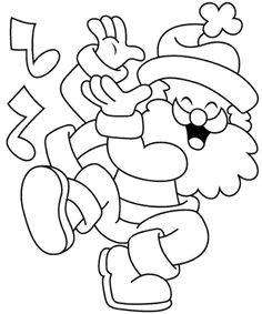 Santa Claus Dance Coloring Page