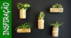 Ideias para transformar rolhas em vasinhos (DIY - reciclagem)