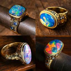 Alex Sepkus Black Opal Rings