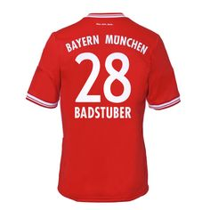 13-14 Bayern Munich #28 Badstuber Home Soccer Jersey Shirt