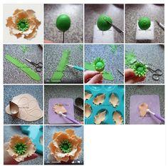 Poppy flower. It is created by http://www.facebook.com/MelinArtCakes http://www.facebook.com/media/set/?set=a.639209812771414.1073741836.539695339389529=1
