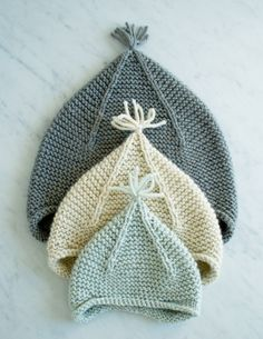 This garter stitch hat with subtle ear flaps. | 15 Absurdly Cute Knitting Patterns For Babies