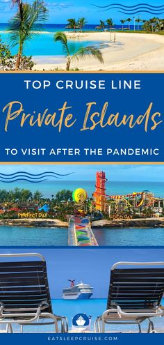 From re-imagined islands to completely new private beach clubs, we share our picks for the Top Cruise Line Private Islands to Visit After the Pandemic. #cruise #cruisetips #cruiseplanning #eatsleepcruise Packing List For Cruise, Cruise Tips, Cruise Travel, Cruise Vacation, Top Cruise Lines, Bahamas Cruise, Cruise Destinations, Royal Caribbean, Beach Club