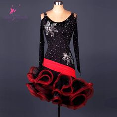 Find More Latin Information about Top quality adult long sleeve Latin dance dress for performance stage show costume Latin dancing dresses 5 sizes available L020,High Quality dress patterns prom dresses,China dress with long train Suppliers, Cheap dresse from Love to dance on Aliexpress.com