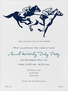 Come to night at the races Events Pinterest Derby party and