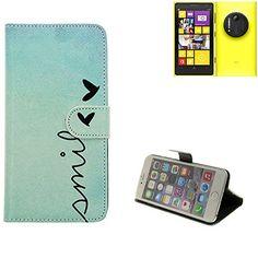 Wallet Case 360° pour Smartphone Nokia Lumia 1020, 'smile'   BookStyle Étui sac protection flipstyle flip cover - K-S-Trade (TM)