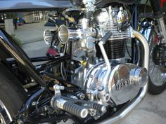 Post pics of your painted motors ! - Page 2 - Forum Bobber Kit, Xs650 Bobber, Sr500, Scrambler, Custom Motorcycles, Cars And Motorcycles, Yamaha 650, Motorcycle Engine, Street Tracker