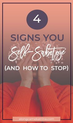 Four Signs You Self-Sabotoge (And How To Stop) Life Advice, Life Tips, Relationship Advice, How To Stop Procrastinating, Comparing Yourself To Others, Reasons To Smile, Look In The Mirror, Health Motivation, Better Life