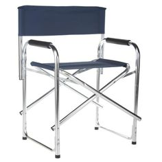 18 Inch Deluxe Aluminum Frame Standard Height Directors Chair   Directors  Chairs At Hayneedle