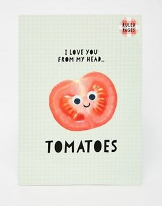 Paperchase Nice Slice A4 Tomatoes Exercise Book