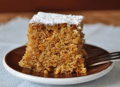 Bizcocho de Zanahoria, sencillo y sabroso. De esta receta se pueden hacer tambien unos excelentes Muffins.