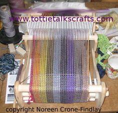 """Weaving a Prayer Shawl on a 10"""" Cricket Loom"""