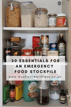 30 essentials for an emergency food stockpile - Delivery Food - Ideas of Delivery Food - 30 essentials for an emergency food stockpile Emergency Food Storage, Emergency Food Supply, Emergency Supplies, Emergency Preparedness, Emergency Kits, Nescafe Gold Blend, Pantry Essentials, Survival Food, Survival Kits