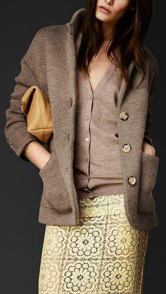 Burberry Prorsum S/S14 Cashmere Blend Artist Jacket