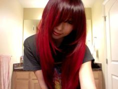 cherry red hair | Asian Girl With Long Red Hair (Manic Panic in Vampire Red) - Photo #2 ...