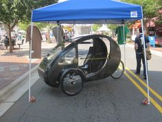 The Organic Transit ELF.  A pedal/electric powered neighborhood vehicle with solar recharging.