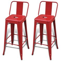 Red Metal Bar Stools 2 Pc Square Kitchen Hotel Pub Shop High Back Chairs Seats Red Bar Stools, Swivel Bar Stools, Bar Chairs, Bar En Palette, Home Bar Furniture, Kitchen Furniture, Diy Kitchen Decor, Home Decor, Beautiful Christmas Decorations