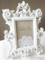 Vintage Lace Table Numbers/ Markers
