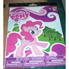 Savvi My Little Pony - Temporary Tattoos - 35 Tattoos in Package -- Details can be found by clicking on the image. (This is an affiliate link and I receive a commission for the sales) #Makeup