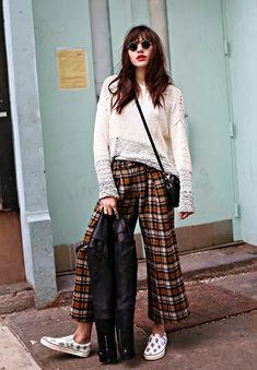 Compre uma culotte xadrez para dar um up no visual neste inverno