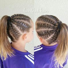 Pin by Jill Ehat on Hair to Try in 2019 Baby Girl Hairstyles, Kids Braided Hairstyles, Cool Hairstyles, Braided Updo, Protective Hairstyles, Wedding Hairstyles, Gymnastics Hair, Curly Hair Styles, Natural Hair Styles