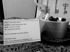 Fifty Shades of Grey party favors http://bellacparties.blogspot.com/2014/07/fifty-shades-of-grey-party_24.html