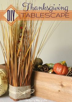 This year DIY a beautiful Thanksgiving Tablescape with these 5 project tutorials. Pieces can be used alone as home decor, or together for festive fall tablescape.
