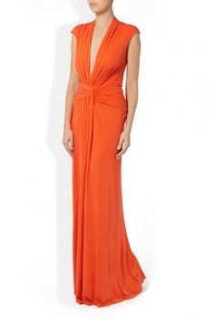 Deep V gathered front gown  Issa London