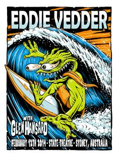 Misc. Eddie Vedder Gig Posters on Behance