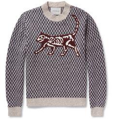 UndercoverJacquard-Knit Wool-Blend Sweater|MR PORTER