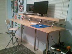 Wide Standing Desk - Ikea Hackers