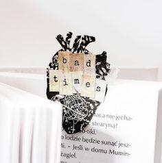 bookmark by Dorotka ***    TES-003 heart in love: negativ - zakochane serce: negatyw