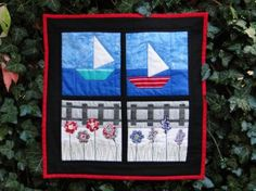 "Mud, Pies and Pins: ""Through my Window"" mini quilt"