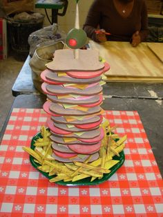 A Scooby sized Sandwich--cute prop for food table...foam cut outs :)