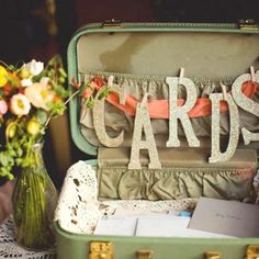 suitcase honeymoon fund (sell decor for this as well)