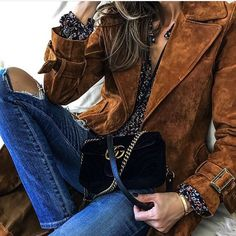 Couro + jeans