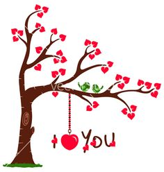 Love tree with i love you vector 1117605 - by nitinkpatel on VectorStock®