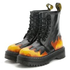 Flame Lace Up Boots