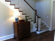 Yesterday our builder asked us to select a stain color for the main staircase handrail and balusters. We will have painted white spindles and the large posts and handrail will be stained. I want the stain to match the color of our hardwood floors. Our floors are site finished hardwood, and we haven'...