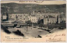 POSTAL BILBAO PLAZA DEL MERCADO DEL ENSANCHE ED. LANDABURU N0 1010 CUÑO ATHLETIC CLUB SIN DIVIDIR - Foto 1