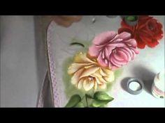 Dicas de pintura grátis - Pintando rosas - Folhas. - YouTube