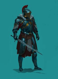 knight, Konstiantyn Syvolotskyi on ArtStation at https://www.artstation.com/artwork/N2LdD