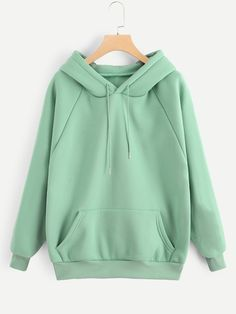 To find out about the Raglan Sleeve Kangaroo Pocket Hoodie at SHEIN, part of our latest Sweatshirts ready to shop online today! Mode Outfits, Casual Outfits, Fashion Outfits, Stylish Hoodies, Vetement Fashion, Types Of Sleeves, Fashion News, Pullover, Hoody