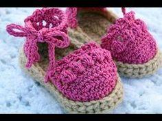 Sandalias de crochet de bebé. Crochet baby sandals, crochet booties.