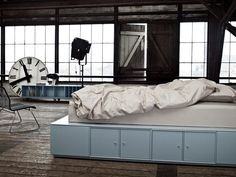 Sleep well. Colour: Frost. #montanafurniture #danishdesign #bedroom #furniture #homedecor #bed #storage