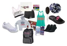 what to put in my cheer bag. by witheren on Polyvore featuring NIKE, Mizuno, Vera Bradley, Leonor Greyl and Playtex